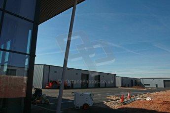 World © Octane Photographic Ltd. 3rd May 2014 - FIA Formula E Head Quarters under construction - Donington Park. Digital Ref : 0890cb1d2776