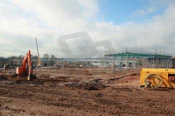World © Octane Photographic Ltd. 18th February 2014 - FIA Formula E Head Quarters under construction - Donington Park. Digital Ref : 0890cb1d3021