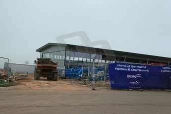 World © Octane Photographic Ltd. 3rd April 2014 - FIA Formula E Head Quarters under construction - Donington Park. Digital Ref : 0890lb1d3360
