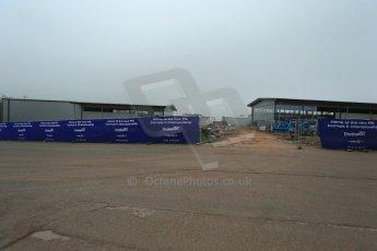 World © Octane Photographic Ltd. 3rd April 2014 - FIA Formula E Head Quarters under construction - Donington Park. Digital Ref : 0890lb1d3396
