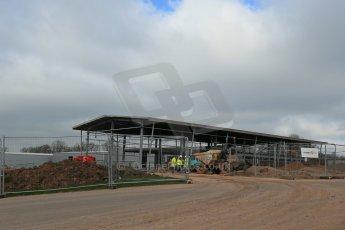 World © Octane Photographic Ltd. 11th March 2014 - FIA Formula E Head Quarters under construction - Donington Park. Digital Ref : 0890lb1d5250