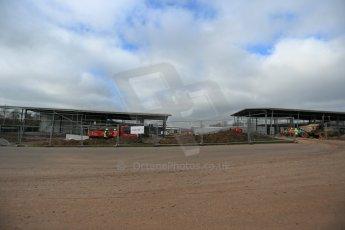World © Octane Photographic Ltd. 11th March 2014 - FIA Formula E Head Quarters under construction - Donington Park. Digital Ref : 0890lb1d5256