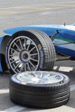 World © Octane Photographic Ltd. FIA Formula E testing – Donington Park 19th August 2014. Spark-Renault SRT_01E. TrulliGP - Jarno Trulli and Michelin 18inch wheels and tyres. Digital Ref : 1077LB1D5118