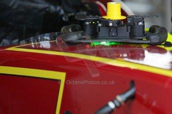 World © Octane Photographic Ltd. FIA Formula E testing – Donington Park 19th August 2014. Spark-Renault SRT_01E steering wheel. China Racing – Nelson Piquet Jnr. Digital Ref : 1077LB1D5155