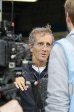 World © Octane Photographic Ltd. FIA Formula E testing – Donington Park 19th August 2014. Spark-Renault SRT_01E. e.dams-Renault – Nicolas Prost's father and ex-F1 world champion Alain Prost. Digital Ref : 1077LB1D5165
