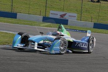 World © Octane Photographic Ltd. FIA Formula E testing – Donington Park 19th August 2014. Spark-Renault SRT_01E. TrulliGP - Jarno Trulli. Digital Ref : 1077LB1D5304