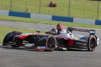 World © Octane Photographic Ltd. FIA Formula E testing – Donington Park 19th August 2014. Spark-Renault SRT_01E. Venturi - Nick Heidfeld. Digital Ref : 1077LB1D5317