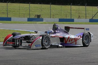 World © Octane Photographic Ltd. FIA Formula E testing – Donington Park 19th August 2014. Spark-Renault SRT_01E. Virgin Racing - Sam Bird. Digital Ref : 1077LB1D5388