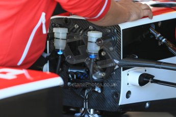 World © Octane Photographic Ltd. FIA Formula E testing – Donington Park 19th August 2014. Spark-Renault SRT_01E. Mahindra Racing - Karun Chandhok. Digital Ref : 1077LB1D5447