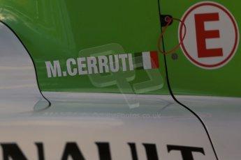 World © Octane Photographic Ltd. FIA Formula E testing – Donington Park 19th August 2014. Spark-Renault SRT_01E. TrulliGP – Michela Cerruti. Digital Ref : 1077LB1D5468