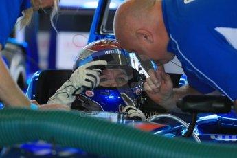 World © Octane Photographic Ltd. FIA Formula E testing – Donington Park 19th August 2014. Spark-Renault SRT_01E. Amlin Aguri - Katherine Legge. Digital Ref : 1077LB1D5609