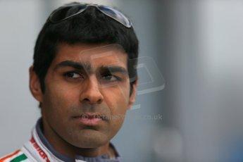 World © Octane Photographic Ltd. FIA Formula E testing – Donington Park 19th August 2014. Spark-Renault SRT_01E. Mahindra Racing - Karun Chandhok. Digital Ref : 1077LB1D5724