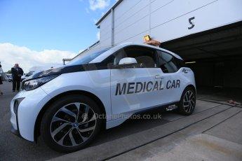 World © Octane Photographic Ltd. FIA Formula E testing – Donington Park 19th August 2014. BMW i3 Medical Car. Digital Ref :