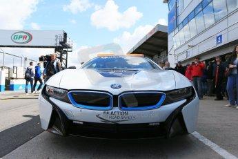 World © Octane Photographic Ltd. FIA Formula E testing – Donington Park 19th August 2014. BMW i8 Safety Car. Digital Ref :