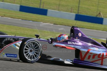 World © Octane Photographic Ltd. FIA Formula E testing – Donington Park 19th August 2014. Spark-Renault SRT_01E. Virgin Racing - Jamie Alguersuari. Digital Ref : 1077LB1D6034