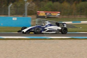 World © Octane Photographic Ltd. Donington Park test, Thursday 17th April 2014. Dunlop MSA Formula Ford Championship of Great Britain. JTR - Sam Brabham - Mygale M12-SJ/Mountune. Digital Ref : 0905lb1d0157