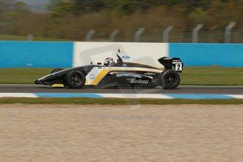 World © Octane Photographic Ltd. Donington Park test, Thursday 17th April 2014. Dunlop MSA Formula Ford Championship of Great Britain. JTR - Jayde Kruger - Mygale M12-SJ/Mountune. Digital Ref : 0905lb1d0263