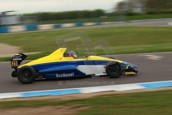 World © Octane Photographic Ltd. Donington Park test, Thursday 17th April 2014. Dunlop MSA Formula Ford Championship of Great Britain. Falcon Motorsport - Chris Mealin - Mygale M12-SJ/Swindon. Digital Ref : 0905lb1d0453