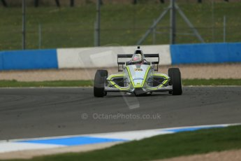 World © Octane Photographic Ltd. Donington Park test, Thursday 17th April 2014. Dunlop MSA Formula Ford Championship of Great Britain. Meridian Motorsport - Ashley Bobby Thompson - Mygale M12-SJ/Scholar. Digital Ref : 0905lb1d4588