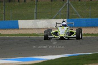World © Octane Photographic Ltd. Donington Park test, Thursday 17th April 2014. Dunlop MSA Formula Ford Championship of Great Britain. Meridian Motorsport - Connor Mills - Mygale M12-SJ/Scholar. Digital Ref : 0905lb1d4603