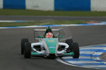 World © Octane Photographic Ltd. Donington Park test, Thursday 17th April 2014. Dunlop MSA Formula Ford Championship of Great Britain. Richardson Racing - Ovie Iroro - Mygale M12-SJ/Scholar. Digital Ref : 0905lb1d4845