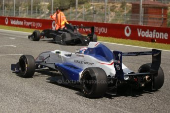 World © Octane Photographic Ltd. Eurocup Formula Renault 2.0 Championship testing. Jerez de la Frontera, Thursday 27th March 2014. Koiranen GP – George Russell and KTR - Alexander Albon. Digital Ref :  0900cb1d8131