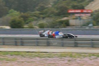 World © Octane Photographic Ltd. Eurocup Formula Renault 2.0 Championship testing. Jerez de la Frontera, Thursday 27th March 2014. Tech 1 Racing – Egor Orudzhev overtakes Anthoine Hubert. Digital Ref :  0900lb1d0638