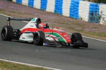 World © Octane Photographic Ltd. Eurocup Formula Renault 2.0 Championship testing. Jerez de la Frontera, Thursday 27th March 2014. Prema Powerteam – Hans Villemi. Digital Ref :  0900lb1d1396