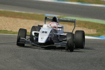 World © Octane Photographic Ltd. Eurocup Formula Renault 2.0 Championship testing. Jerez de la Frontera, Thursday 27th March 2014. JD Motorsport – Denis Korneev. Digital Ref :  0900lb1d1459