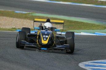 World © Octane Photographic Ltd. Eurocup Formula Renault 2.0 Championship testing. Jerez de la Frontera, Thursday 27th March 2014. Arta Engineering – James Allen. Digital Ref :  0900lb1d1547