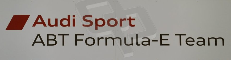 World © Octane Photographic Ltd. FIA Formula E testing Donington Park 10th July 2014. Audi Sport ABT Formula E team logo. Digital Ref : 1032CB1D3267