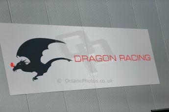 World © Octane Photographic Ltd. FIA Formula E testing Donington Park 10th July 2014. Dragin Racing logo. Digital Ref : 1032CB1D3277