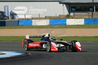 World © Octane Photographic Ltd. FIA Formula E testing Donington Park 10th July 2014. Spark-Renault SRT_01E. Mahindra Racing - Karun Chandhok. Digital Ref : 1032CB1D3352