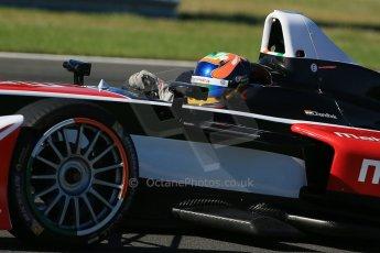 World © Octane Photographic Ltd. FIA Formula E testing Donington Park 10th July 2014. Spark-Renault SRT_01E. Mahindra Racing - Karun Chandhok. Digital Ref : 1032CB1D3360