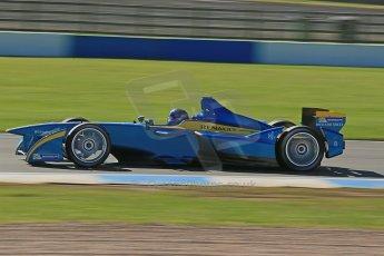World © Octane Photographic Ltd. FIA Formula E testing Donington Park 10th July 2014. Spark-Renault SRT_01E. e.dams-Renault – Nicolas Prost. Digital Ref : 1032CB1D3456