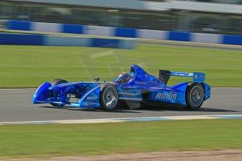 World © Octane Photographic Ltd. FIA Formula E testing Donington Park 10th July 2014. Spark-Renault SRT_01E. Amlin Aguri - Katherine Legge. Digital Ref : 1032CB1D3518