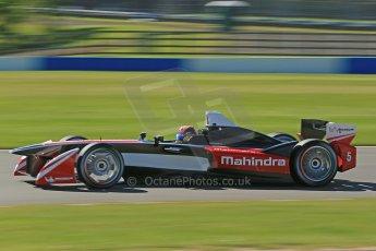 World © Octane Photographic Ltd. FIA Formula E testing Donington Park 10th July 2014. Spark-Renault SRT_01E. Mahindra Racing - Karun Chandhok. Digital Ref : 1032CB1D3536
