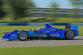 World © Octane Photographic Ltd. FIA Formula E testing Donington Park 10th July 2014. Spark-Renault SRT_01E. Amlin Aguri - Fabio Leimer. Digital Ref : 1032CB1D3607