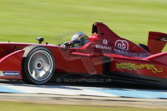 World © Octane Photographic Ltd. FIA Formula E testing Donington Park 10th July 2014. Spark-Renault SRT_01E. China Racing - Juan Manuel Lopez. Digital Ref : 1032CB1D4076