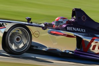 World © Octane Photographic Ltd. FIA Formula E testing Donington Park 10th July 2014. Spark-Renault SRT_01E. Virgin Racing - Sam Bird. Digital Ref : 1032CB1D4101