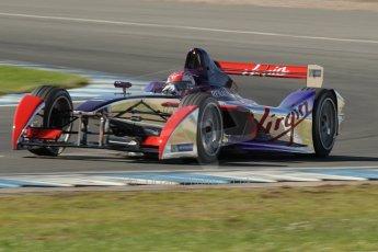 World © Octane Photographic Ltd. FIA Formula E testing Donington Park 10th July 2014. Spark-Renault SRT_01E. Virgin Racing - Sam Bird. Digital Ref : 1032CB1D4142