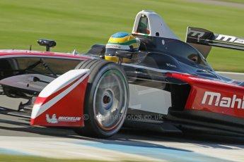 World © Octane Photographic Ltd. FIA Formula E testing Donington Park 10th July 2014. Mahindra Racing - Bruno Senna. Digital Ref : 1032CB1D4163