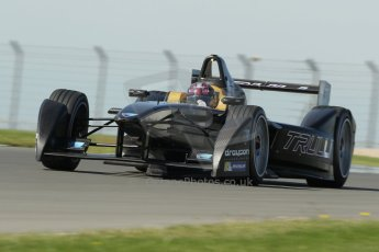 World © Octane Photographic Ltd. FIA Formula E testing Donington Park 10th July 2014. Spark-Renault SRT_01E. TrulliGP – Michela Cerruti. Digital Ref : 1032CB1D4256