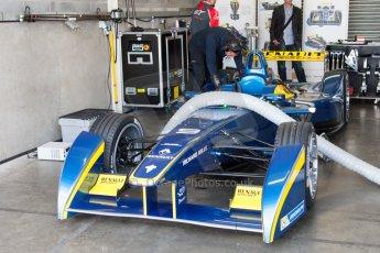 World © MountersPhotography/OctanePhotos.co.uk. FIA Formula E testing Donington Park 9th July 2014. Spark-Renault SRT_01E. e.dams-Renault – Nicolas Prost. Digital Ref : 1031JM1D0038