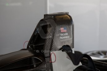 World © MountersPhotography/OctanePhotos.co.uk. FIA Formula E testing Donington Park 9th July 2014. Spark-Renault SRT_01E. Andretti Autosport – Scott Speed. Digital Ref : 1031JM1D0327