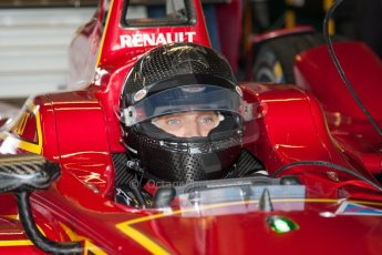 World © MountersPhotography/OctanePhotos.co.uk. FIA Formula E testing Donington Park 9th July 2014. Spark-Renault SRT_01E. China Racing – Jerome d'Ambrosio. Digital Ref : 1031JM1D9942