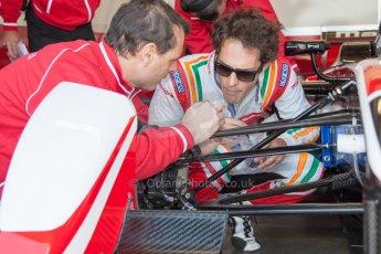 World © MountersPhotography/OctanePhotos.co.uk. FIA Formula E testing Donington Park 9th July 2014. Spark-Renault SRT_01E. Mahindra Racing - Bruno Senna. Digital Ref : 1031JM1D9994