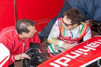 World © MountersPhotography/OctanePhotos.co.uk. FIA Formula E testing Donington Park 9th July 2014. Spark-Renault SRT_01E. Mahindra Racing - Bruno Senna. Digital Ref : 1031JM1D9998