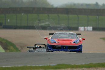 World © Octane Photographic Ltd. Donington Park General testing, Thursday 24th April 2014. Ferrari 458 Italia - F.F.Corse. Digital Ref : 0913lb1d8907