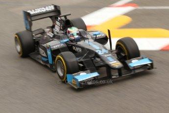 World © Octane Photographic Ltd. Thursday 22nd May 2014. GP2 Practice – Monaco, Monte Carlo. Nathanael Berthon - Venezuela GP Lazarus. Digital Ref : 0959CB7D2199